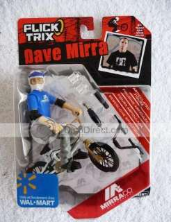 Spin Master Flick Trix Bmx Dave Mirra Zinc Alloy Finger Bike Toy Set