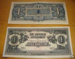 WWII Japanese Government One Dollar Paper Money UNC