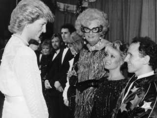 Dancer Wayne Sleep Meets Princess Diana at Palladium Theatre After