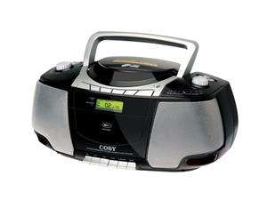 Portable Stereo /CD/Cassette Player with AM/FM Radio MPCD450BLK