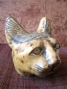 RAREStone Antique Egyptian Statue of Ancient Egyptian BASTET Cat