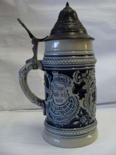 GERMANY ORIGINAL MOLD YEAR 1894 DAS LABICH MIR LIDDED BEER STEIN
