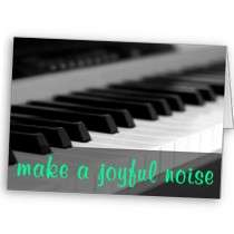 Make a joyful noise unto the Lord Psalm 984 Cards by inspiredbygenius