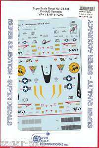 72 SuperScale Decals F 14A VF 41 & F 14D VF 31 72 885
