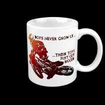 Bigger Toys Dirt Bike Motocross Funny Mug mugs by allanGEE