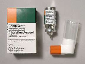 Picture COMBIVENT INH (200 PUFFS)14.7GM  Drug Information  Pharmacy