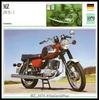Classic Motorcycle Collector Card 1979 German MZ TS 250