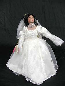 Paradise Galleries Porcelain Collectible Wedding Doll 18