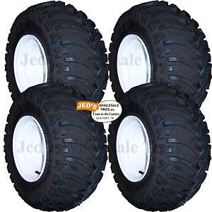 25x12 10 lifted off road GOLF CART TIREs RIMs WHEELs for EZGO Club
