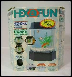 HEXAFUN HEXAGONAL 1 GALLON MINI FISH TANK AQUARIUM KIT 015561115414