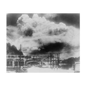 the Mushroom Cloud of the Atomic Bomb Blast in Nagasaki, Japan, Aug. 9