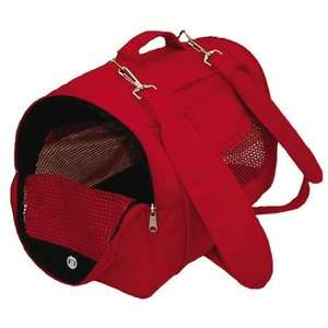 Prefer Pets Backpack Pet Carrier in Red Dogs