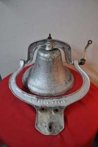 ANTIQUE, ORIGINAL, #2 SIZE CRYSTAL CAST IRON BELL MANUFACTURED IN THE