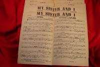 Big Band Charts Jack Mason Arranged My Sister & I 1941