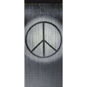 Beautiful Bamboo Beaded Curtain PEACE SIGN Design