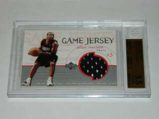1999   2000 Upper Deck Game Jerseys ALLEN IVERSON Jersey BGS 9.5 GEM