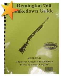 BRAND NEW Remington 760 Takedown Guide WW70939