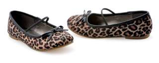 GIRLS LEOPARD PRINT FLAT HALLOWEEN COSTUME BALLET SHOES