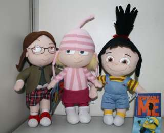 Despicable Me Agnes Edith Margo Plush Doll Toy 9 Set