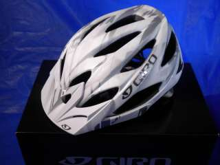 new 2011 giro xar mountain bike helmet matte white with gray bars