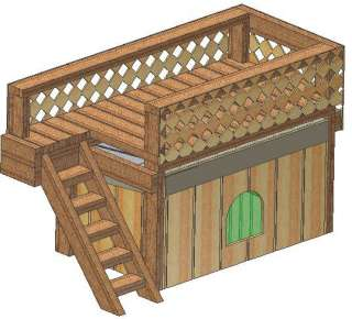 INSULATED DOG HOUSE PLANS, COMPLETE SET, MEDIUM SIZED DOG KENNEL PLANS