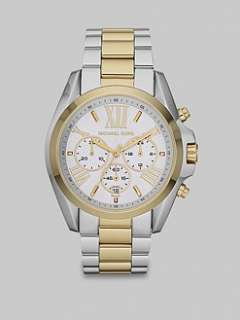 Michael Kors   Two Tone Stainless Steel Chronograph Watch