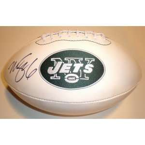Mark Sanchez Autographed New York Jets Team Logo Football