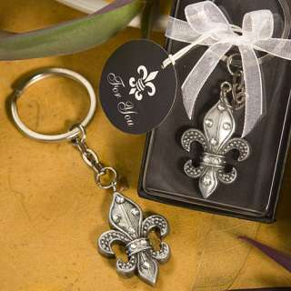 FLEUR DE LIS KEYCHAIN BRIDAL SHOWER WEDDING FAVOR 638054064817