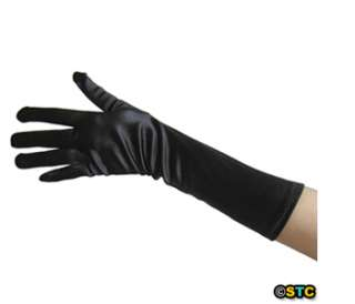 Black Satin Gloves ~ DANCE WEDDING PROM FORMAL EVENING PARTY