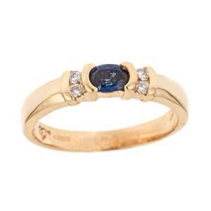 Thomas Laine   Oval Sapphire and Diamond Gold Ring