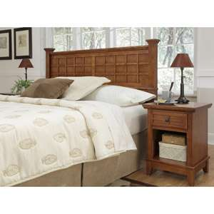 Home Styles Arts and Crafts Queen/Full Headboard and Nightstand