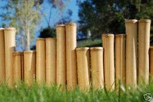 80 Bamboo Garden Border Edging Commercial Natural