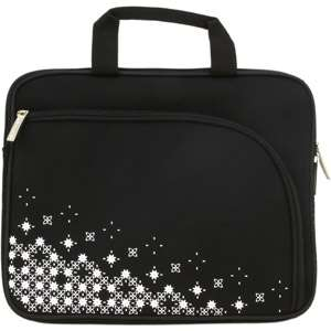 Netbook/Tablet Carrying Case Black with Pattern, Neoprene Laptop Case