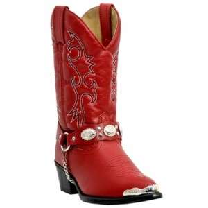 Laredo Little Concho Girls Cowboy Boots Size 8.5 13.5