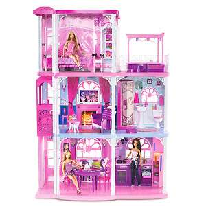 NEW* Barbie Doll House Pink 3 Story Dream Townhouse Dollhouse *2