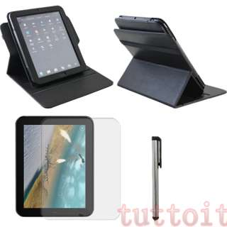 3in1 Leather Case Cover+Protector+Pen for HP TouchPad