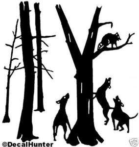 Coon Hunting Decal #1 Coon Hunting Window Sticker 6