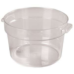 Clear Plastic   Round Food Storage Containers   Twelve (12