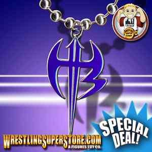 WWE TNA Jeff Hardy Purple Logo Pendant