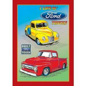I Like Old Ford Trucks Pickup Retro Vintage Tin Sign Home