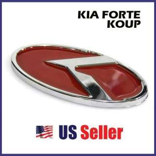 KIA FORTE KOUP RED K LOGO Emblem/Badge Front Rear Trunk