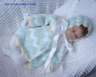 BABY JACKET KNITTING PATTERN DOLL PATTERNS REBORN # 123