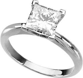 Moissanite Engagement Ring Princess Square 2.15 Ct 7mm