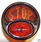 BLACK PC Motorcycle DELUXE Bobber Tail Light STOP L