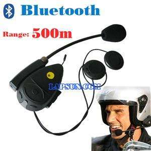 Bluetooth Motorcycle Helmet Intercom Interphone 500m UK