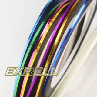 10 Color Striping Tape Nail Art Line Decoration Sticker