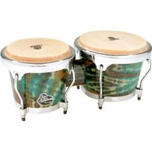 Latin Percussion LPA601 Accent Series Wood Bongos, Red Tie