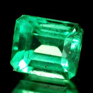 Unheated 0.40 Ct. Oval Natural Rich Green Emerald Gem