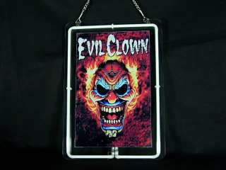 VR 0010 Crazy Frame Evil Clown Tattoo Neon Light Sign