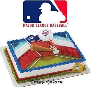 MLB Philadelphia Phillies Baseball HOME RUN Cake Decoration Topper Set